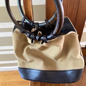 Gucci - Vintage Wooden Handle, Leather Hobo Bag